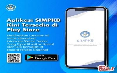 SIMPKB GTK Kemdikbud kini telah hadir di Play Store.